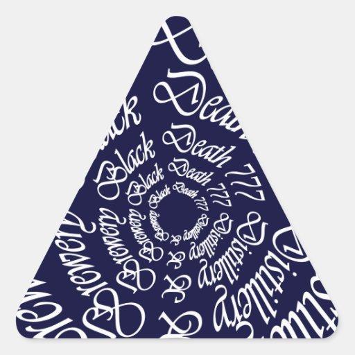 Muerte negra 777 - círculos calcomanías trianguladas personalizadas