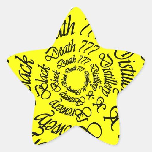 Muerte negra 777 - círculos colcomanias forma de estrellaes personalizadas