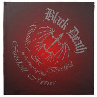 Muerte negra 777 - destilería de la montaña de servilletas de papel