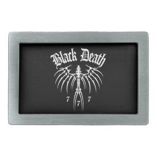 Muerte negra 777 - finales de la estación hebillas de cinturón rectangulares