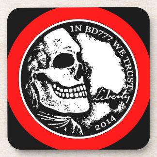Muerte negra 777 - libertad posavasos de bebidas