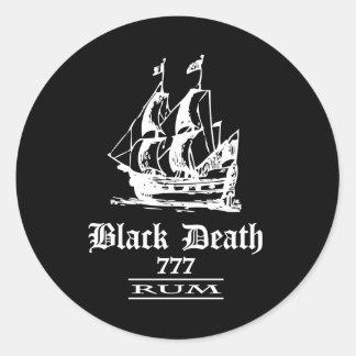 Muerte negra 777 - Ol envía el ron Pegatina Redonda