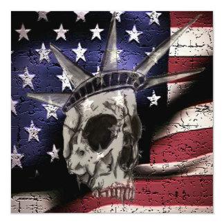 """Muerte o libertad invitación 5.25"""" x 5.25"""""""
