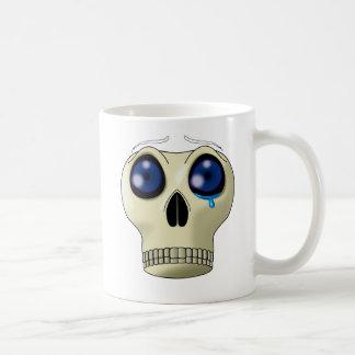 Muerte observada triste taza de café