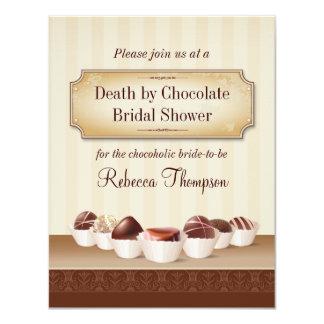 Muerte por la ducha nupcial del chocolate
