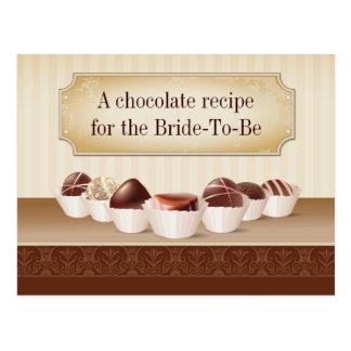 Muerte por receta del chocolate postal