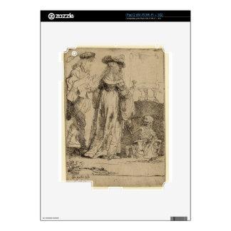 Muerte que aparece a un par casado de Rembrandt Calcomanías Para iPad 2