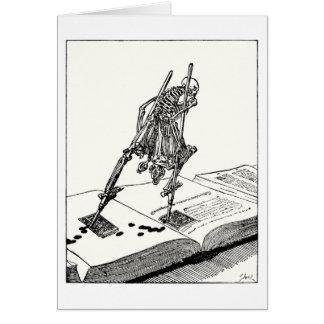 Muerte que camina en los zancos tarjeta de felicitación
