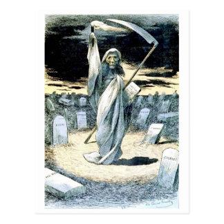 Muerte que ilumina la postal de Tonkin