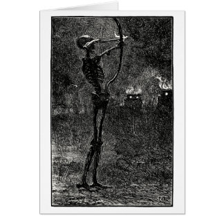 Muerte que trata flechas tarjeta de felicitación