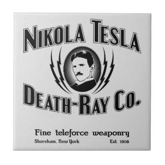 Muerte-Rayo Co. de Nikola Tesla Azulejo Cuadrado Pequeño