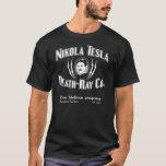 Muerte-Rayo Co. de Nikola Tesla Playera