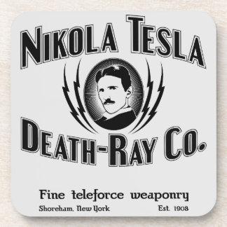 Muerte-Rayo Co. de Nikola Tesla Posavasos De Bebidas