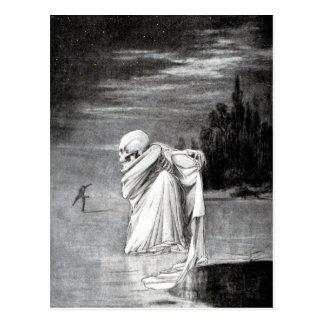 muerte sobre la postal del hielo