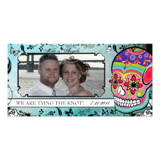Muerte Sugar Skull Calaveras Save the Date Card