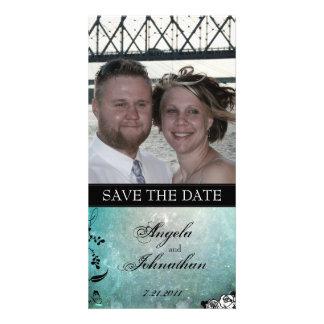 Muerte Sugar Skull Calaveras Save the Date Photo Card