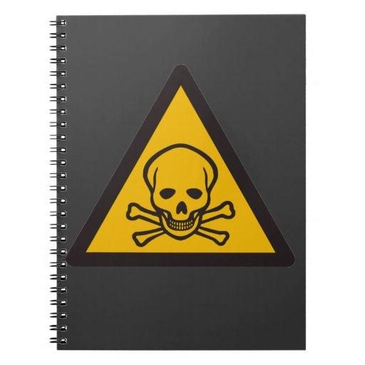 muerte tóxica amonestadora notebook