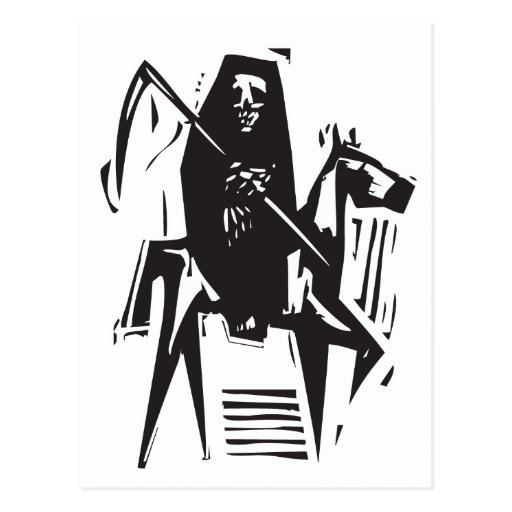 Muerte y caballo tarjetas postales