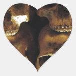 Muerte y decadencia pegatina en forma de corazón