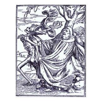 Muerte y el Abbott de Hans Holbein el más joven Tarjeta Postal