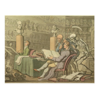 Muerte y el artista postales