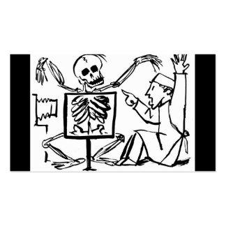 Muerte y el doctor de la radiografía circa 1951 tarjetas de visita