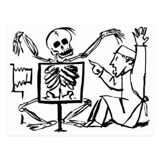 Muerte y el doctor de la radiografía circa 1951 postal