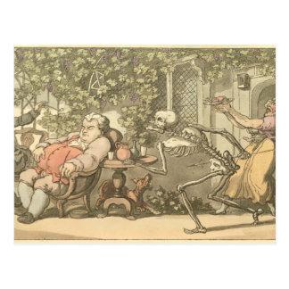 Muerte y el hombre rico postal