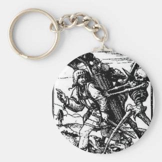 Muerte y el vendedor ambulante de Hans Holbein el Llavero Redondo Tipo Pin