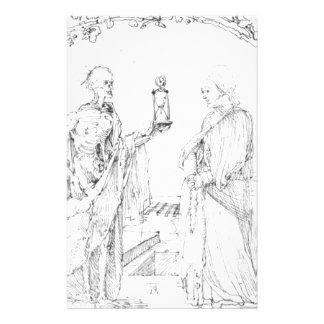Muerte y esposa de Albrecht Durer Papelería