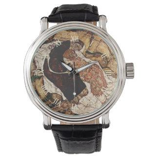 Muerte y la doncella de Egon Schiele Relojes De Mano