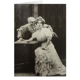 Muerte y la doncella tarjeta de felicitación