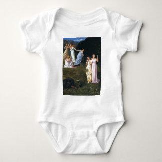 Muerte y las doncellas de Pedro Puvis de Chavannes Body Para Bebé