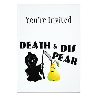 """Muerte y pera del SID Invitación 5"""" X 7"""""""