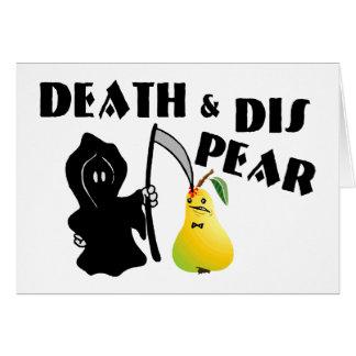 Muerte y pera del SID Tarjeta De Felicitación