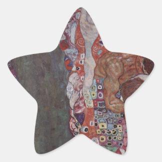 Muerte y vida de Gustavo Klimt Pegatina En Forma De Estrella