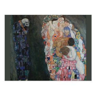 Muerte y vida de Gustavo Klimt Postales