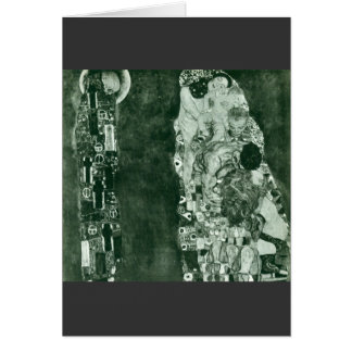 Muerte y vida (estado anterior) por Gustavo Klimt Tarjeta De Felicitación