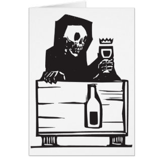 Muerte y vino tarjeta