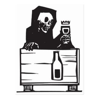 Muerte y vino postal