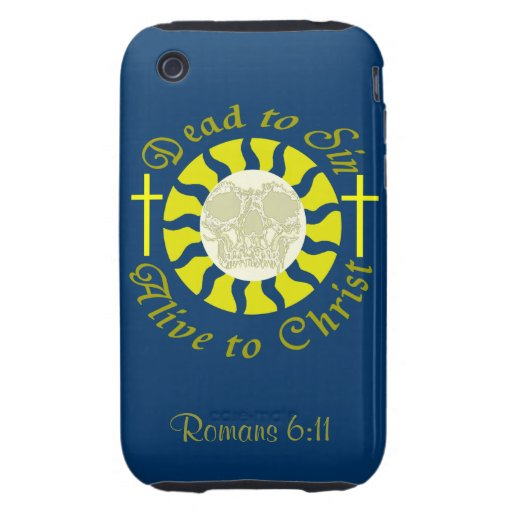 Muertos a sin - vivo a Cristo: 6:11 de los romanos iPhone 3 Tough Cárcasas