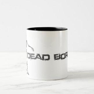 muertos aburridos taza de dos tonos