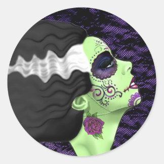 Muertos Bride Classic Round Sticker