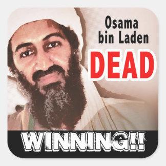 ¡Muertos cargados compartimiento de Osama que Pegatina Cuadrada