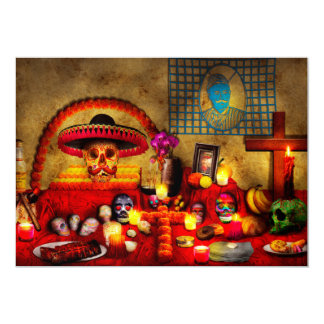 """Muertos de los dios del Los - Rembering amados Invitación 5"""" X 7"""""""