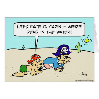 muertos en capitán del desierto del pirata del agu tarjeta