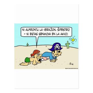 muertos en esperanto del capitán del desierto del postal