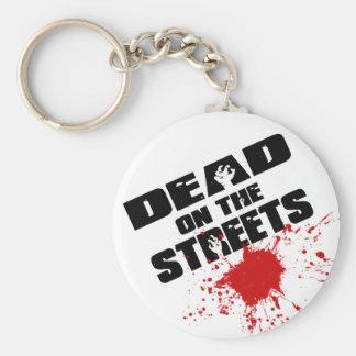 Muertos en las calles (logotipo de Splat) Llavero Redondo Tipo Pin