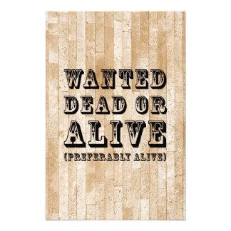 Muertos o vivo queridos impresiones fotograficas