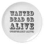 Muertos o vivo queridos platos